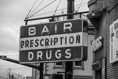 Photograph - Bair Prescription Drugs  by John McGraw
