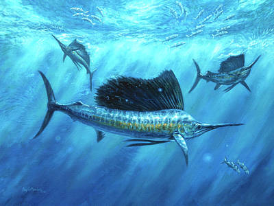 Wall Art - Painting - Bait Bash by Guy Crittenden