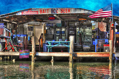 Photograph - Bait Beer Ice by Dan Friend