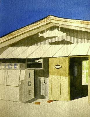 Sign In Florida Painting - Bait Shop In Gasparilla Florida by Walt Maes