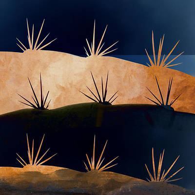 Indigo Photograph - Baja Landscape Number 1 Square by Carol Leigh