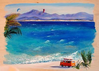 Kiteboarding Painting - Baja Safari by Lynee Sapere