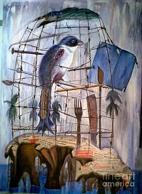 Painting - Bajo Mis Propias Alas by Jorge L Martinez Camilleri