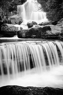 Photograph - Bajouca Waterfall Bw II by Marco Oliveira