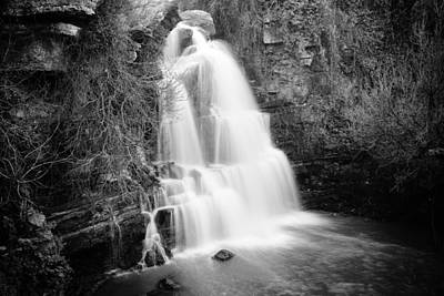 Photograph - Bajouca Waterfall Bw by Marco Oliveira
