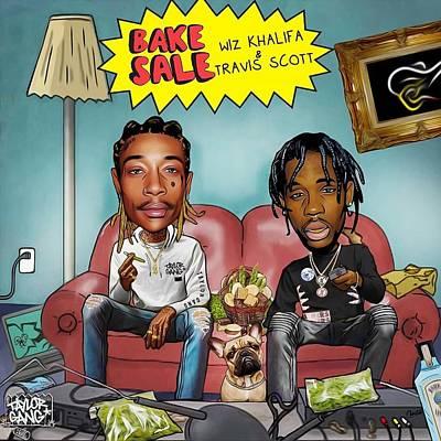 Wiz Khalifa Digital Art - Bake Sale by Sik Harlan