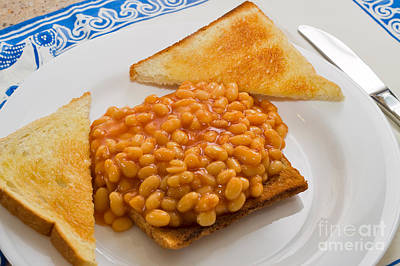 Light Lunch Photograph - Baked Beans On Toast by Louise Heusinkveld