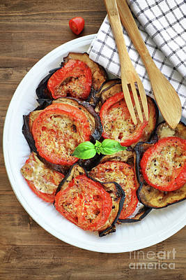Photograph - Baked Eggplant With Tomatoes by Anna Om