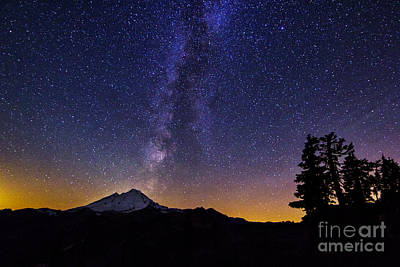 Photograph - Baker And Milky Way Landscape by Sonya Lang