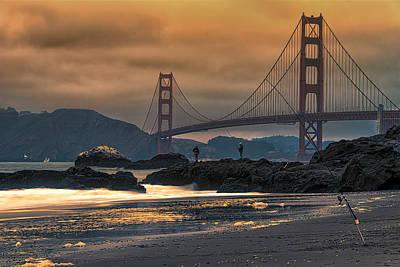 Baker Beach Golden Gate Art Print