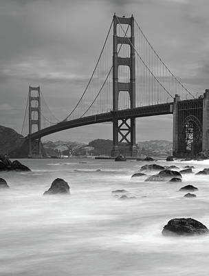 Bridge Photograph - Baker Beach Impressions by Sebastian Schlueter (sibbiblue)