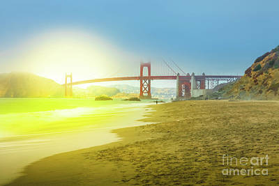 Photograph - Baker Beach In San Francisco by Benny Marty