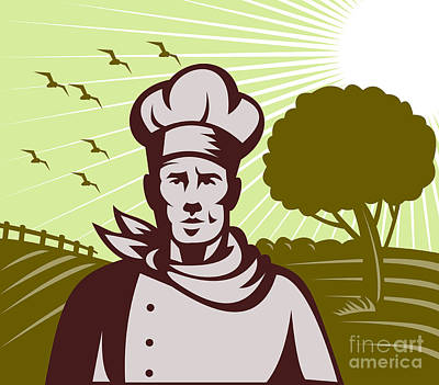 Baker Chef  Art Print by Aloysius Patrimonio