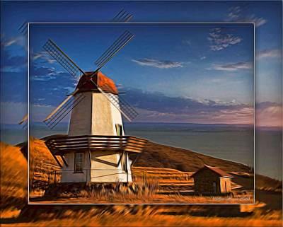 Digital Art - Baker City Windmill_1a by Walter Herrit