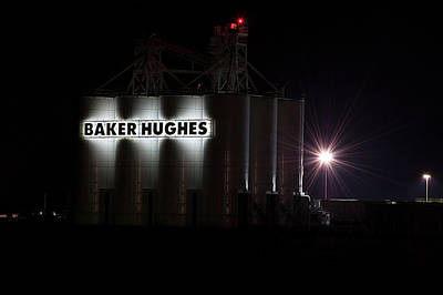 Superhero Ice Pop Rights Managed Images - Baker Hughes At Night Royalty-Free Image by Jay Billings