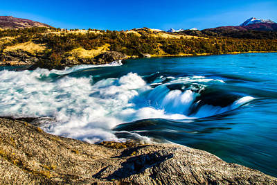 Photograph - Baker River Waterfall by Walt Sterneman