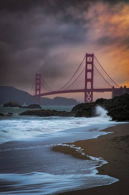 Baker's Beach Art Print by Edgars Erglis