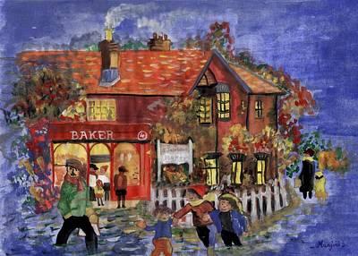 Bakers Inn Winter Holiday Landscape Art Print