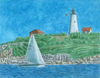 Bakers Island Lighthouse Original by Dominic White