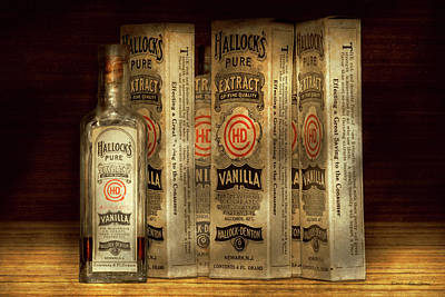 Photograph - Bakery - Hallocks Pure Vanilla Extract by Mike Savad