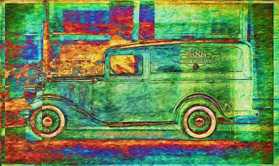 Photograph - Bakery Truck Abstracted by Alice Gipson