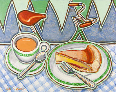 Country Fair Painting - Bakewell Pudding And Cup Of Tea At Eroica Britannia  by Mark Jones