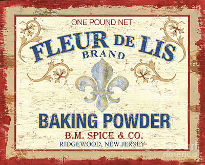 Baking Powder Fleur De Lis Art Print by Debbie DeWitt