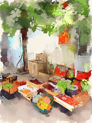 Baku Streets 4 Art Print