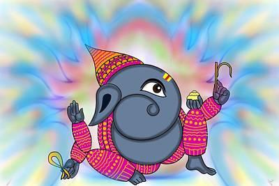 Digital Art - Madhura Ganesha by Pratyasha Nithin