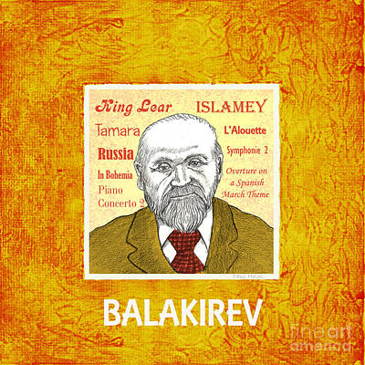 Balakirev Art Print by Paul Helm