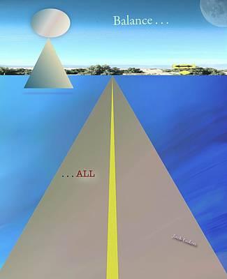 Balance All Art Print by Jack Eadon