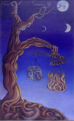 Balance Of Fire And Water Art Print by Natalia Kadish