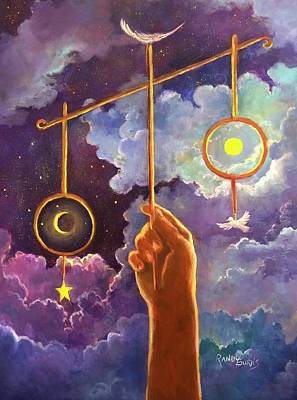Painting - Balance Of God   El Equilibrio De Dios by Randy Burns