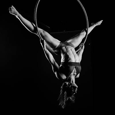 Female Bodybuilder Photograph - Balance Of Power 9 by Monte Arnold
