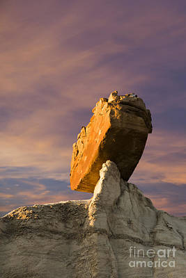 Photograph - Balanced Bus Rock At The Burnham Badlands by Keith Kapple