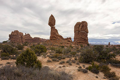 Photograph - Balanced Rock 2 - Arches National Park - Moab Utah by Brian Harig