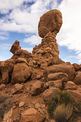 Photograph - Balanced Rock 3 - Arches National Park - Moab Utah by Brian Harig