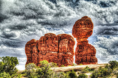 Photograph - Balanced Rock At Arches National Park by Roger Passman