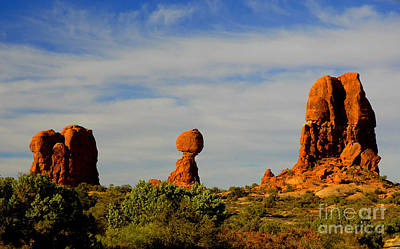 Balanced Rock Art Print by Dennis Hammer