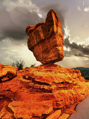 Photograph - Balanced Rock Garden Of The Gods by Alan Socolik