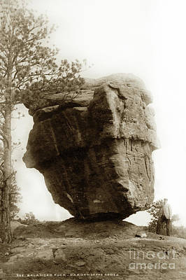 Photograph -  Balanced Rock. Garden Of The Gods, Colorado by California Views Mr Pat Hathaway Archives