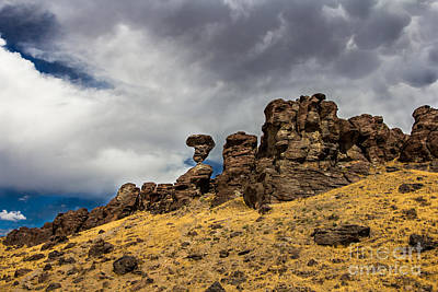 Photograph - Balanced Rock Idaho Landscapes By Kaylyn Franks by Omaste Witkowski