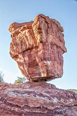 Art Print featuring the photograph Balanced Rock In Garden Of The Gods, Colorado Springs by Peter Ciro