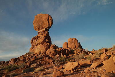 Hot Boulders Photograph - Balanced Rock by Jeff Swan