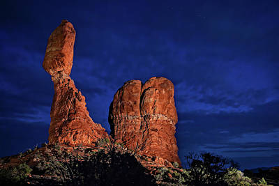 Photograph - Balanced Rock Light Painted by Mike Stephens