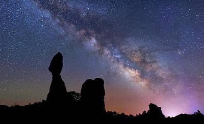 Photograph - Balanced Rock Milky Way by Darren White