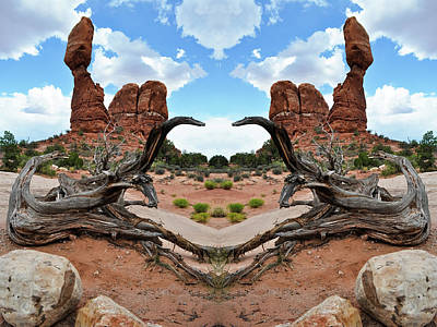Photograph - Balanced Rock Mirror by Kyle Hanson