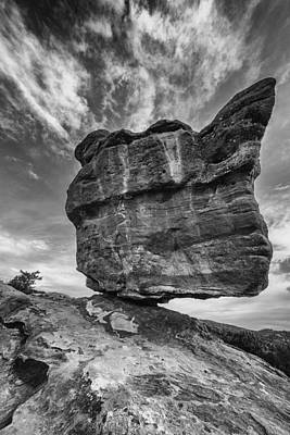 Photograph - Balanced Rock Monochrome by Darren White