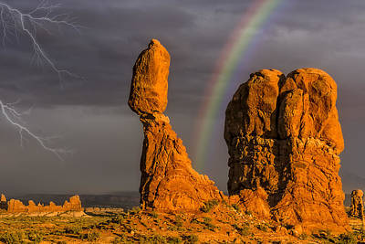 Photograph - Balanced Rock Storm Anp by Susan Candelario