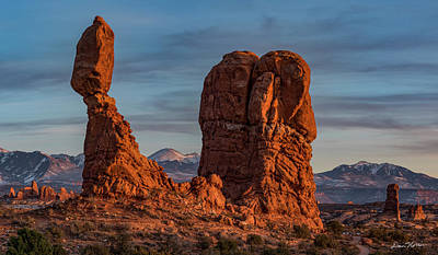 Arch Photograph - Balanced Rock Sunset by Dan Norris